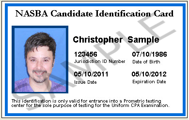 Nasba Candidate Identification Card 00 Cand Id Card